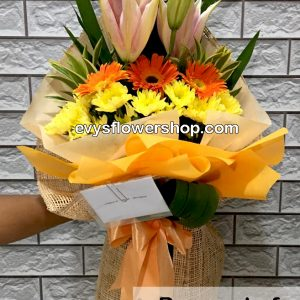 bouquet of mixed flowers 25, bouquet of mixed flowers, spring flowers, bouquet, flower delivery, flower delivery philippines