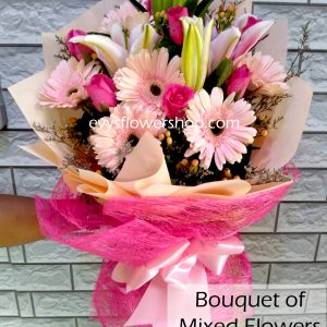 bouquet of mixed flowers 26, bouquet of mixed flowers, spring flowers, bouquet, flower delivery, flower delivery philippines