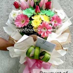 bouquet of mixed flowers 28, bouquet of mixed flowers, spring flowers, bouquet, flower delivery, flower delivery philippines
