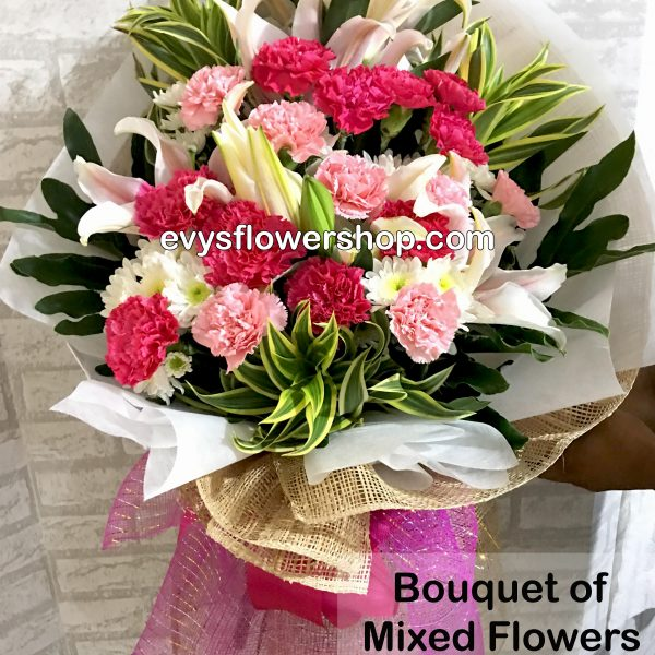 bouquet of mixed flowers 30, bouquet of mixed flowers, spring flowers, bouquet, flower delivery, flower delivery philippines