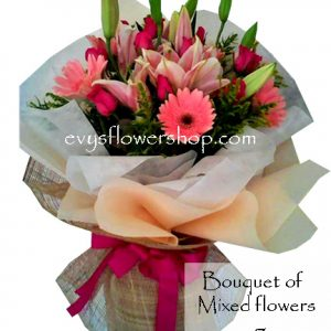 bouquet of mixed flowers 7, bouquet of mixed flowers, spring flowers, bouquet, flower delivery, flower delivery philippines
