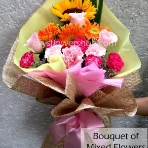 bouquet of mixed flowers 8, bouquet of mixed flowers, spring flowers, bouquet, flower delivery, flower delivery philippines
