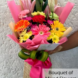 bouquet of mixed flowers 9, bouquet of mixed flowers, spring flowers, bouquet, flower delivery, flower delivery philippines