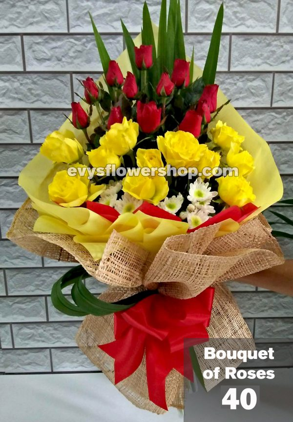 bouquet of roses 40, bouquet, flower delivery, flower delivery philippines