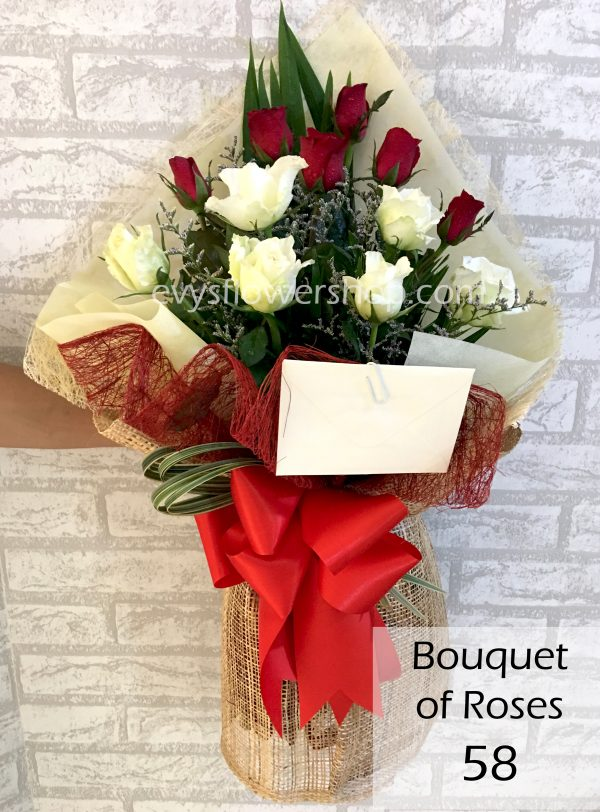 bouquet of roses 58, bouquet, flower delivery, flower delivery philippines