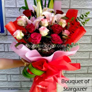 bouquet of stargazer 1, bouquet of stargazer, stargazer, bouquet, flower delivery, flower delivery philippines