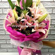 bouquet of stargazer 1, bouquet of stargazer, stargazer, bouquet, flower delivery, flower delivery philippines
