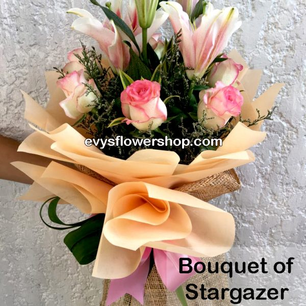 bouquet of stargazer 10, bouquet of stargazer, stargazer, bouquet, flower delivery, flower delivery philippines