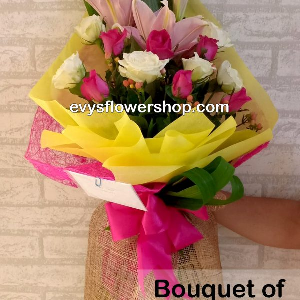 bouquet of stargazer 13, bouquet of stargazer, stargazer, bouquet, flower delivery, flower delivery philippines