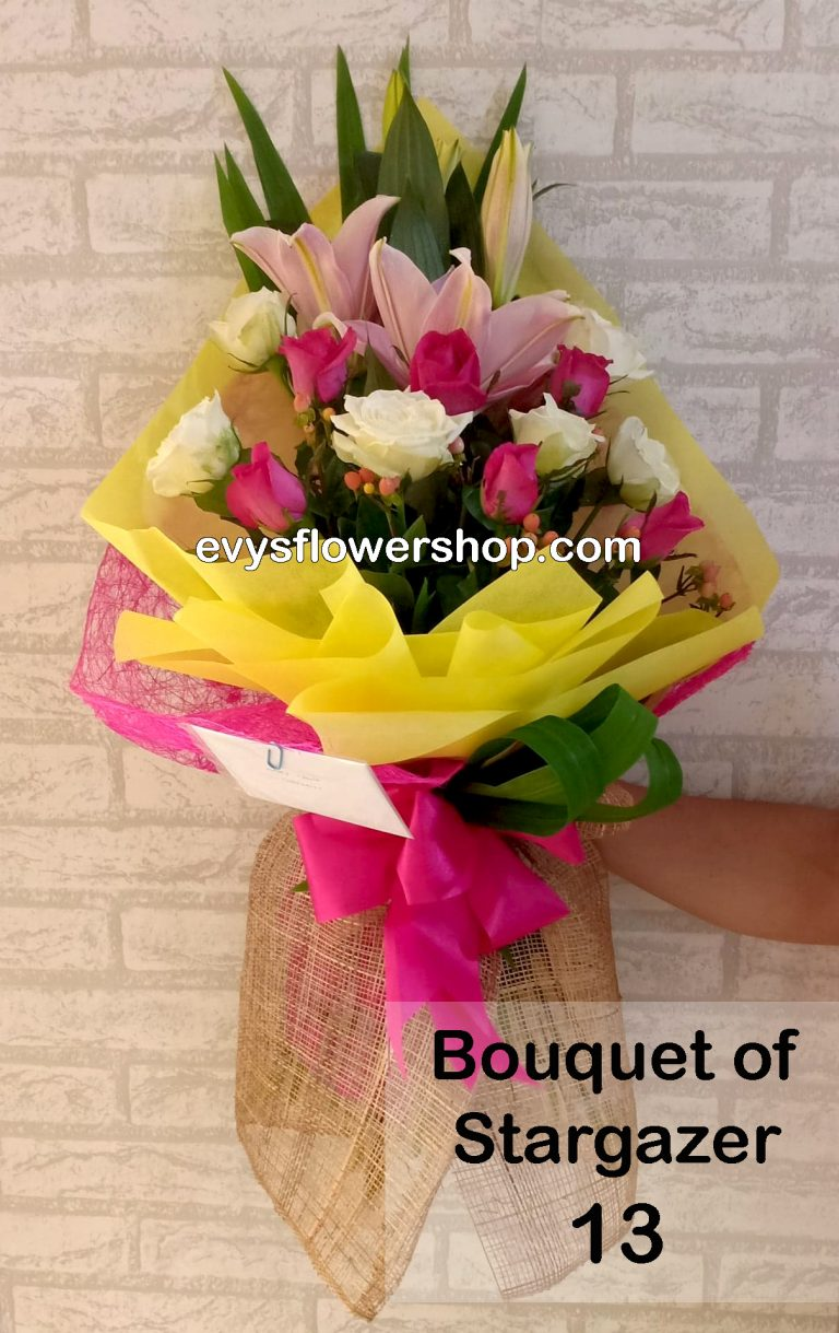 bouquet of stargazer 13, bouquet of stargazer, stargazer, bouquet, flower delivery, flower delivery philippines