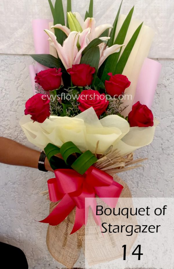 bouquet of stargazer 14, bouquet of stargazer, stargazer, bouquet, flower delivery, flower delivery philippines