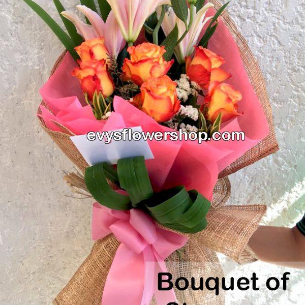 bouquet of stargazer 15, bouquet of stargazer, stargazer, bouquet, flower delivery, flower delivery philippines