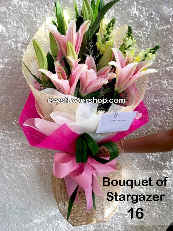 bouquet of stargazer 16, bouquet of stargazer, stargazer, bouquet, flower delivery, flower delivery philippines