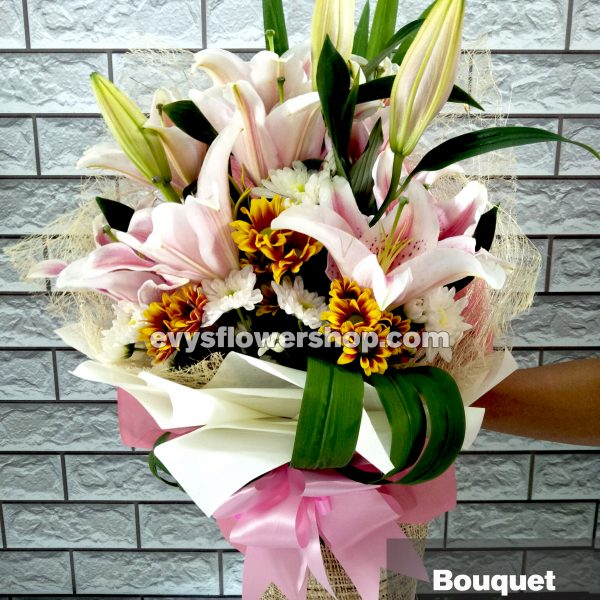 bouquet of stargazer 18, bouquet of stargazer, stargazer, bouquet, flower delivery, flower delivery philippines