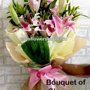 bouquet of stargazer 19, bouquet of stargazer, stargazer, bouquet, flower delivery, flower delivery philippines