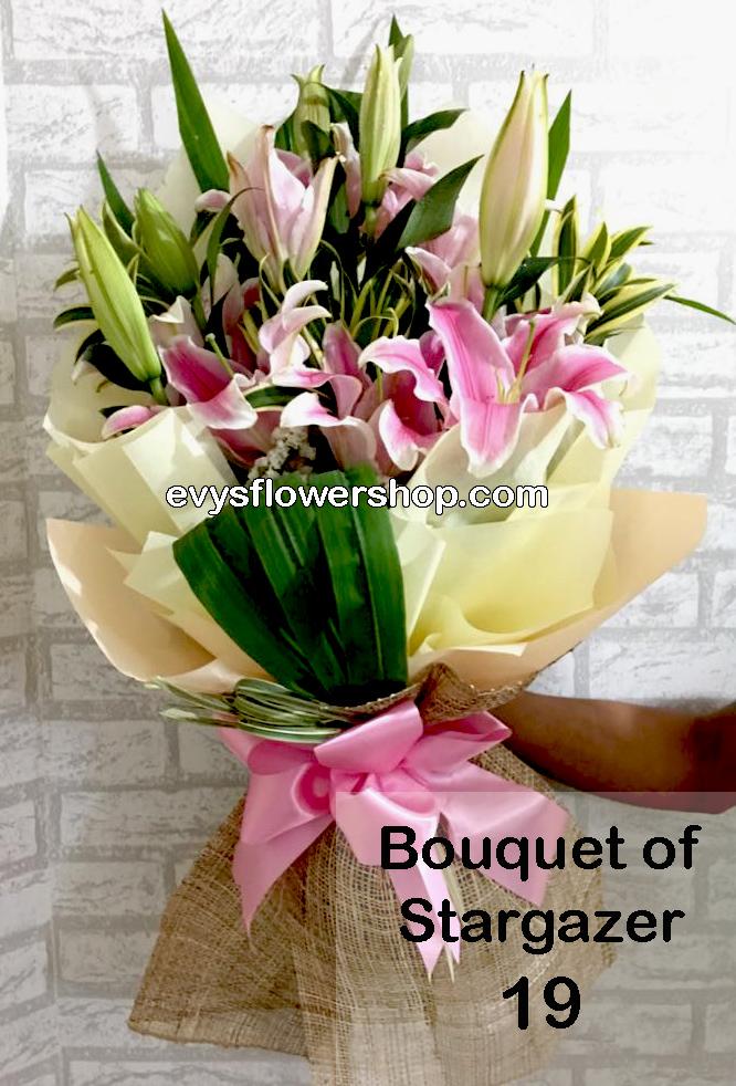 bouquet of stargazer 19, bouquet of stargazer, stargazer, bouquet, flower delivery, flower delivery philippines