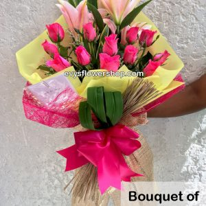 bouquet of stargazer 5, bouquet of stargazer, stargazer, bouquet, flower delivery, flower delivery philippines