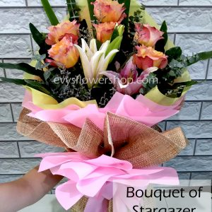 bouquet of stargazer 6, bouquet of stargazer, stargazer, bouquet, flower delivery, flower delivery philippines