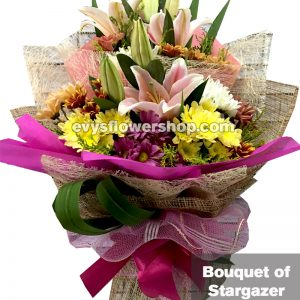 bouquet of stargazer 7, bouquet of stargazer, stargazer, bouquet, flower delivery, flower delivery philippines
