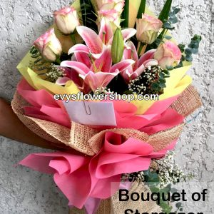 bouquet of stargazer 8, bouquet of stargazer, stargazer, bouquet, flower delivery, flower delivery philippines