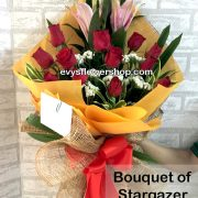 bouquet of stargazer 9, bouquet of stargazer, stargazer, bouquet, flower delivery, flower delivery philippines