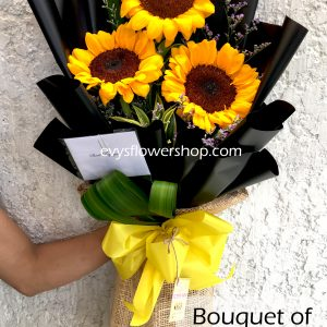 bouquet of sunflower 1, bouquet of sunflower, sunflower, bouquet, flower delivery, flower delivery philippines
