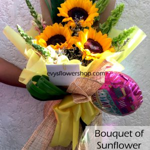bouquet of sunflower 2, bouquet of sunflower, sunflower, bouquet, flower delivery, flower delivery philippines