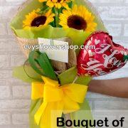 bouquet of sunflower 3, bouquet of sunflower, sunflower, bouquet, flower delivery, flower delivery philippines