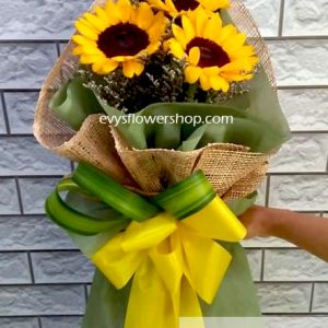 bouquet of sunflower 3, bouquet of sunflower, sunflower, bouquet, flower delivery, flower delivery philippines