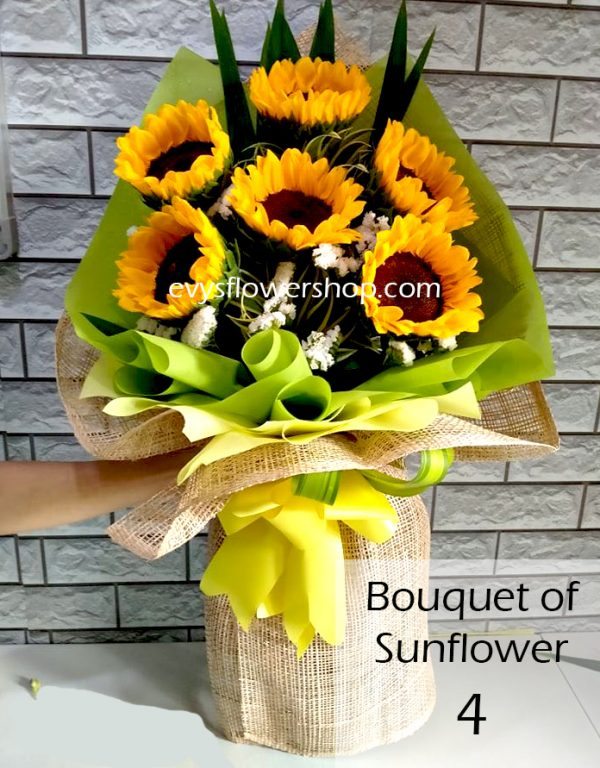 bouquet of sunflower 4, bouquet of sunflower, sunflower, bouquet, flower delivery, flower delivery philippines