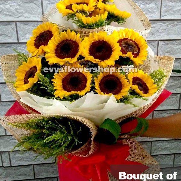 bouquet of sunflower 4, bouquet of sunflower, sunflower, bouquet, flower delivery, flower delivery philippines
