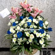 B6, basket of mixed flowers, spring flowers, basket arrangement, basket, basket of flowers, flower delivery, flower delivery philippines