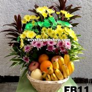 FB11, fruit basket, flowers and fruits basket, hamper, flower delivery, flower delivery philippines