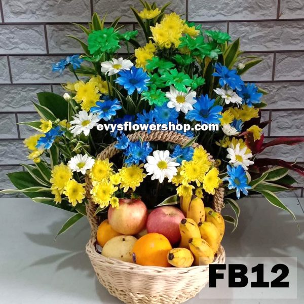 FB12, fruit basket, flowers and fruits basket, hamper, flower delivery, flower delivery philippines
