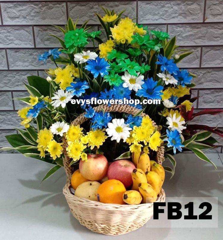 FB12, fruit basket, flowers and fruits basket, hamper, flower delivery, flower delivery philippines