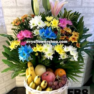 FB8, fruit basket, flowers and fruits basket, hamper, flower delivery, flower delivery philippines