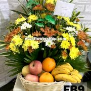 FB9, fruit basket, flowers and fruits basket, hamper, flower delivery, flower delivery philippines