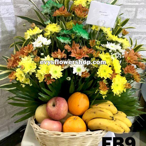 FB9, fruit basket, flowers and fruits basket, hamper, flower delivery, flower delivery philippines
