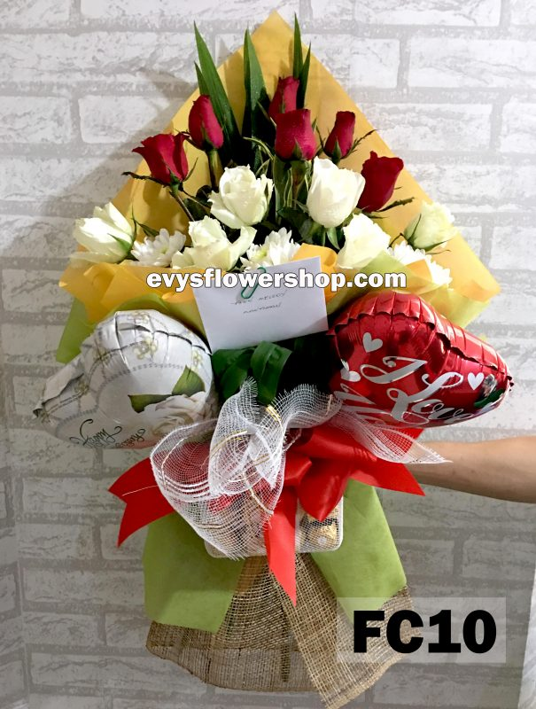 FC10, bouquet of roses, combo, package, bouquet, flower delivery, flower delivery philippines