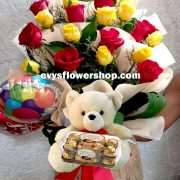 FC12, bouquet of ecuadorian roses, combo, package, bouquet, flower delivery, flower delivery philippines