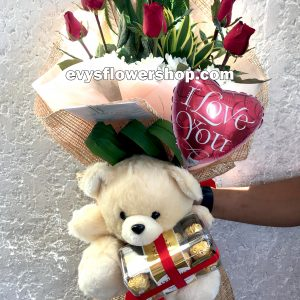 FC17, bouquet of roses, combo, package, bouquet, flower delivery, flower delivery philippines