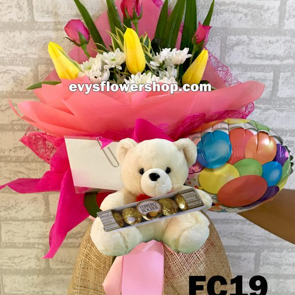 FC19, bouquet of tulips, combo, package, bouquet, flower delivery, flower delivery philippines