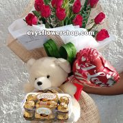 FC20, bouquet of roses, combo, package, bouquet, flower delivery, flower delivery philippines