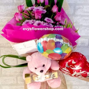 FC23, bouquet of roses, combo, package, bouquet, flower delivery, flower delivery philippines