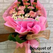 bouquet of carnation 10, bouquet of carnation, carnation, bouquet, flower delivery, flower delivery philippines
