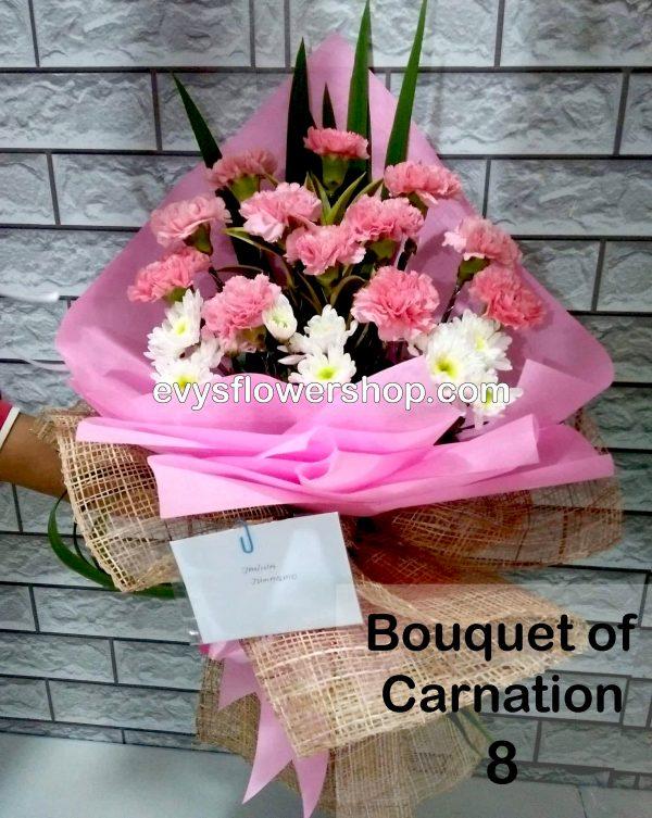 bouquet of carnation 8, bouquet of carnation, carnation, bouquet, flower delivery, flower delivery philippines