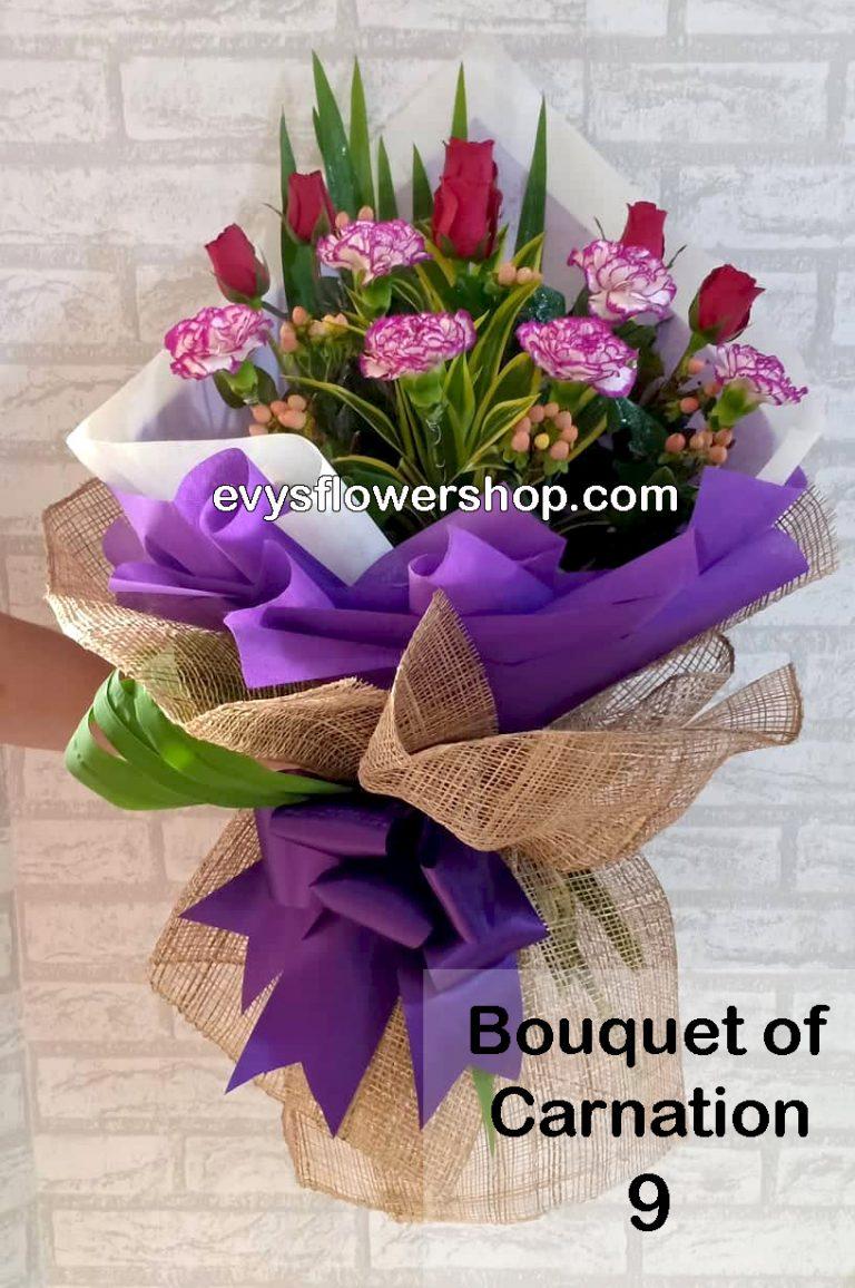 bouquet of carnation 9, bouquet of carnation, carnation, bouquet, flower delivery, flower delivery philippines