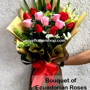 bouquet of ecuadorian roses 15, bouquet of ecuadorian roses, ecuadorian roses, bouquet, flower delivery, flower delivery philippines