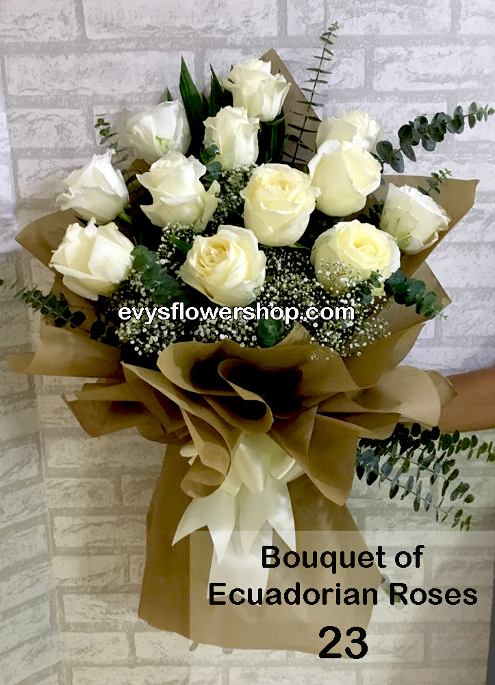 bouquet of ecuadorian roses 23, bouquet of ecuadorian roses, ecuadorian roses, bouquet, flower delivery, flower delivery philippines