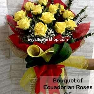 bouquet of ecuadorian roses 25, bouquet of ecuadorian roses, ecuadorian roses, bouquet, flower delivery, flower delivery philippines